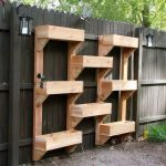 Vertical Wooden Box Planter - The Owner-Builder Network