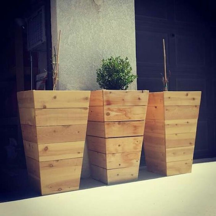 DIY tall planter