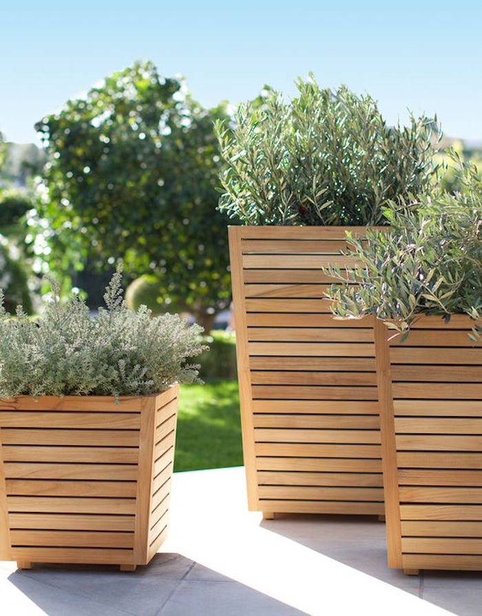 Tall Wooden Planters Wooden Designs
