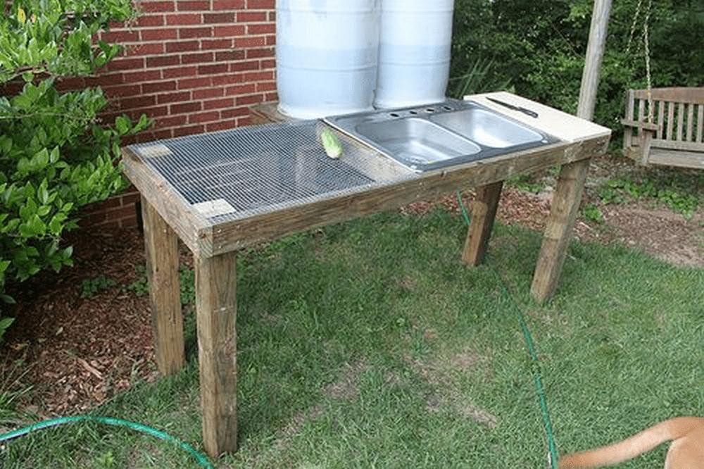 DIY Veggie Washing Station - The garden! on Patio Sink Station id=72662