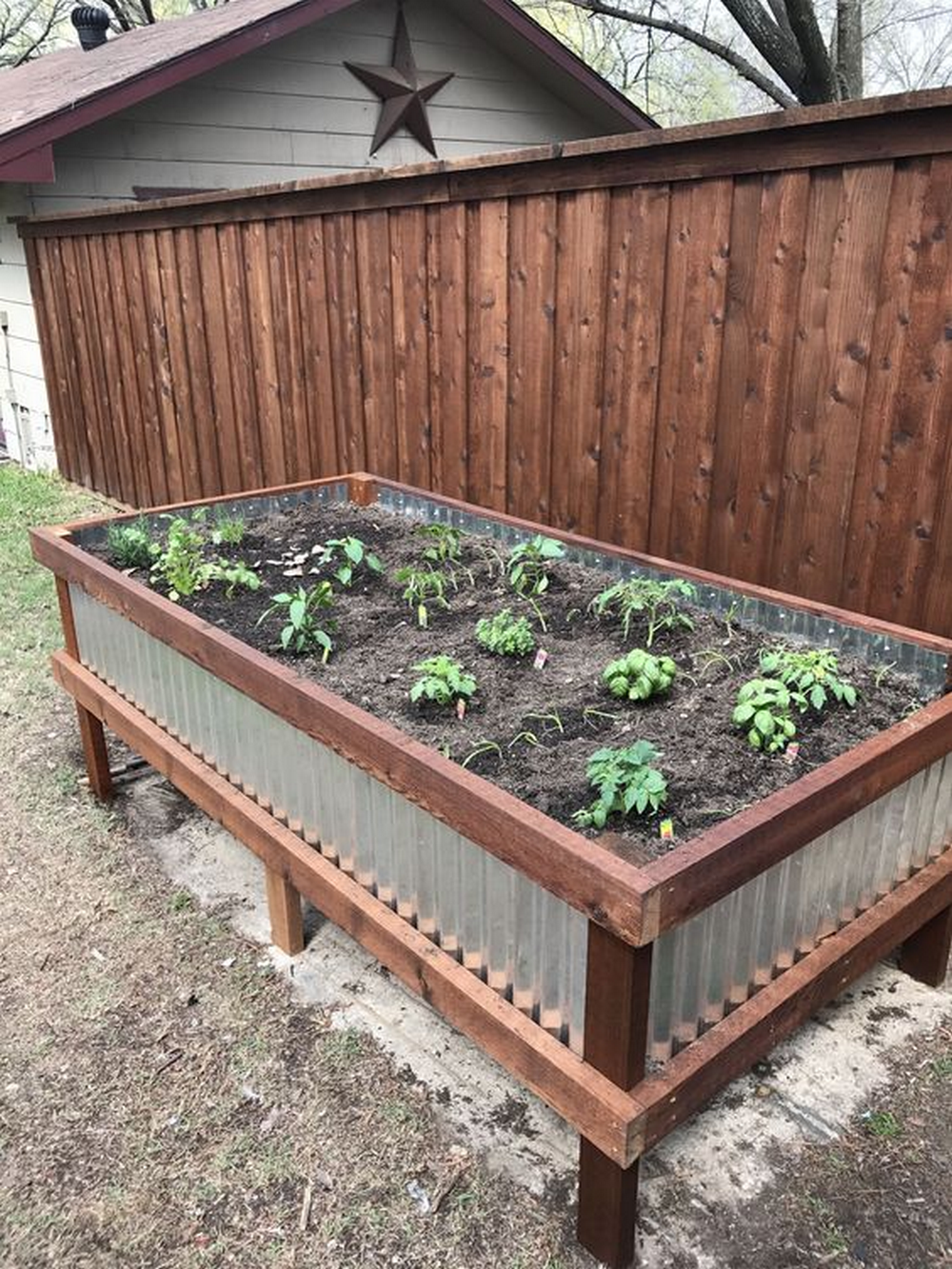 Picture of: Build Your Own Corrugated Metal Raised Bed The Garden