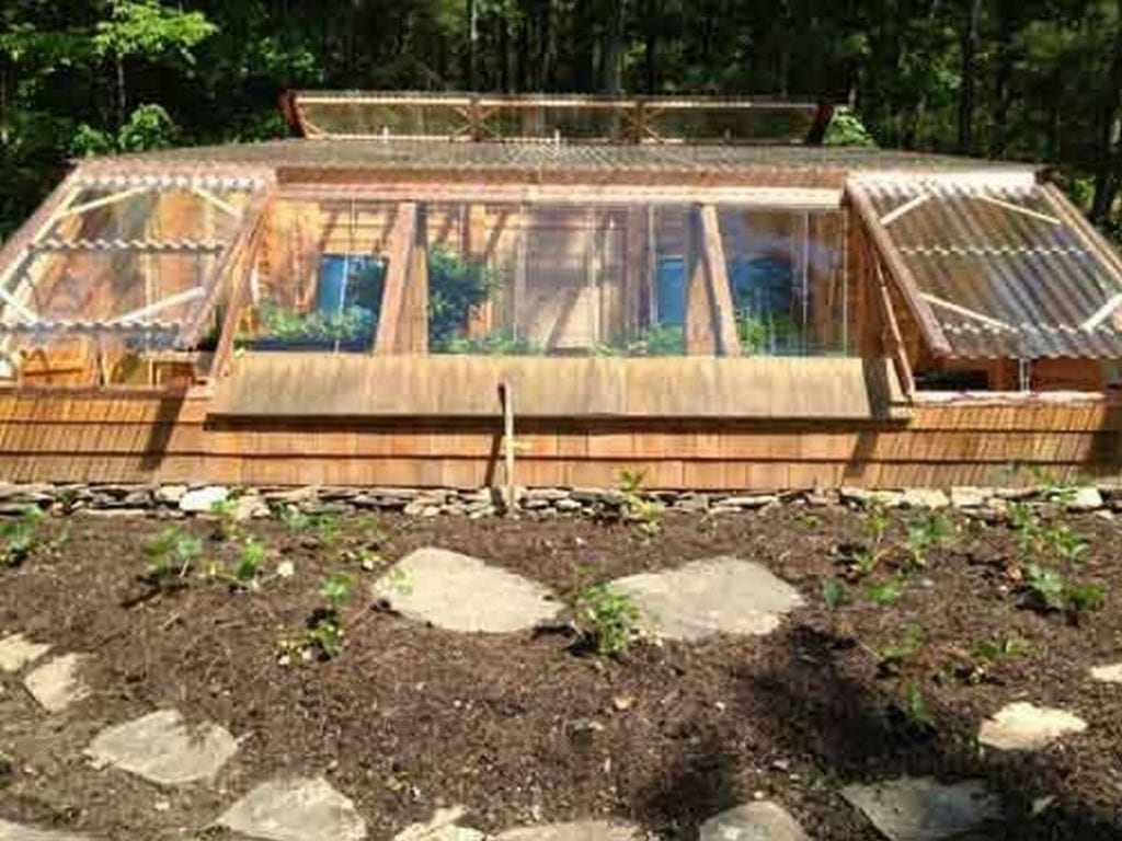 Easily grow your own produce in this earth-sheltered greenhouse.