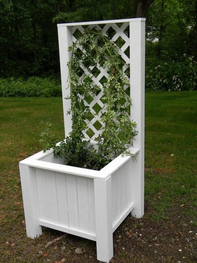 DIY Garden Grow Box and Trellis Combo