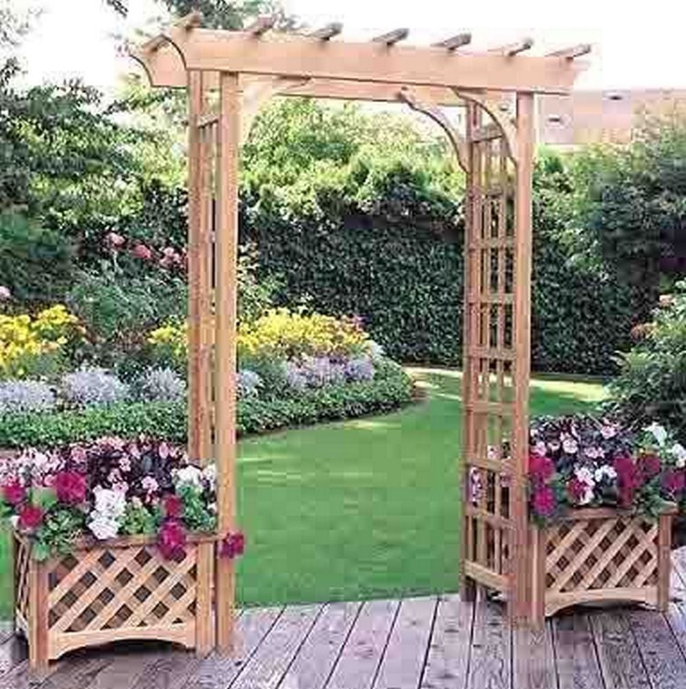 A garden grow box and trellis combo will be a great decorative element to your garden - and functional, too!