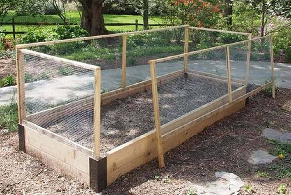 How To Make A Removable Raised Garden Bed Fence The