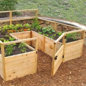 DIY Raised and Enclosed Garden Bed