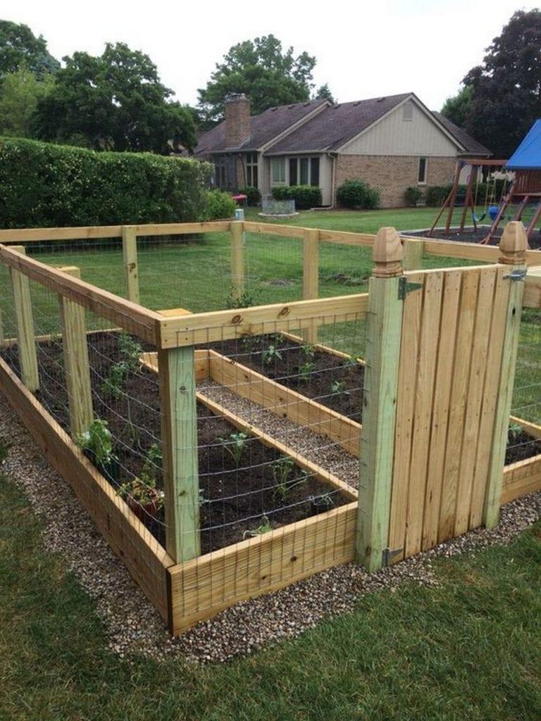 DIY Raised and Enclosed Garden Bed | The garden!