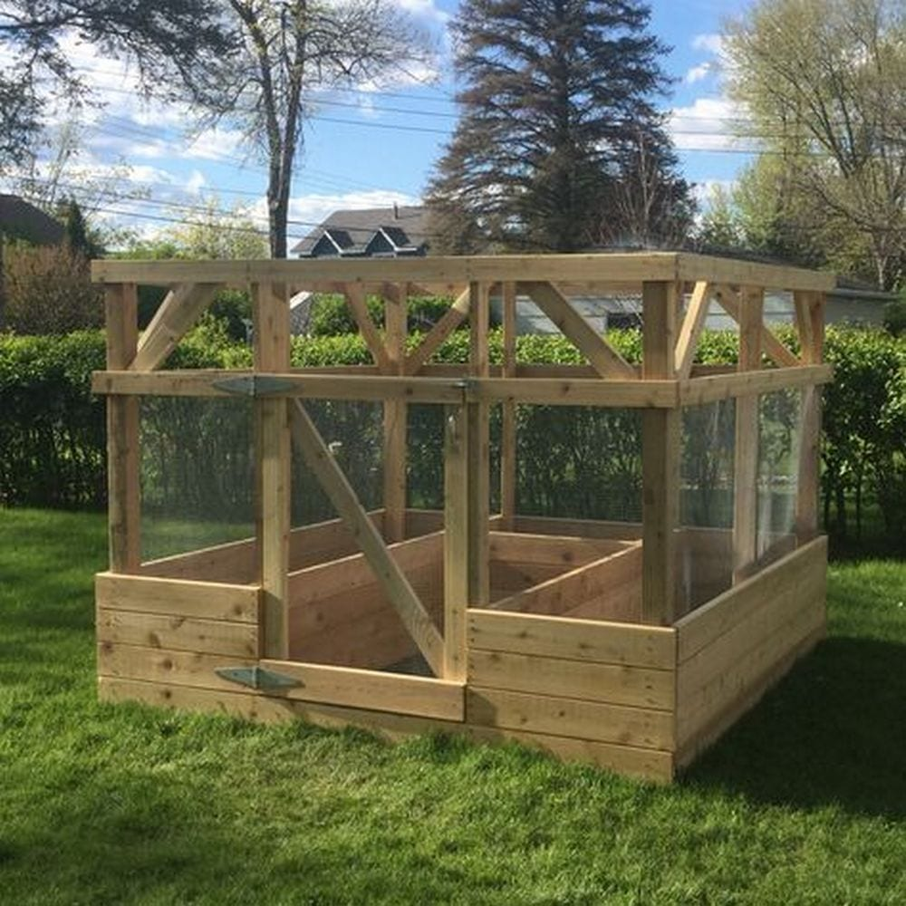Make your Own Raised Garden Bed with Screen