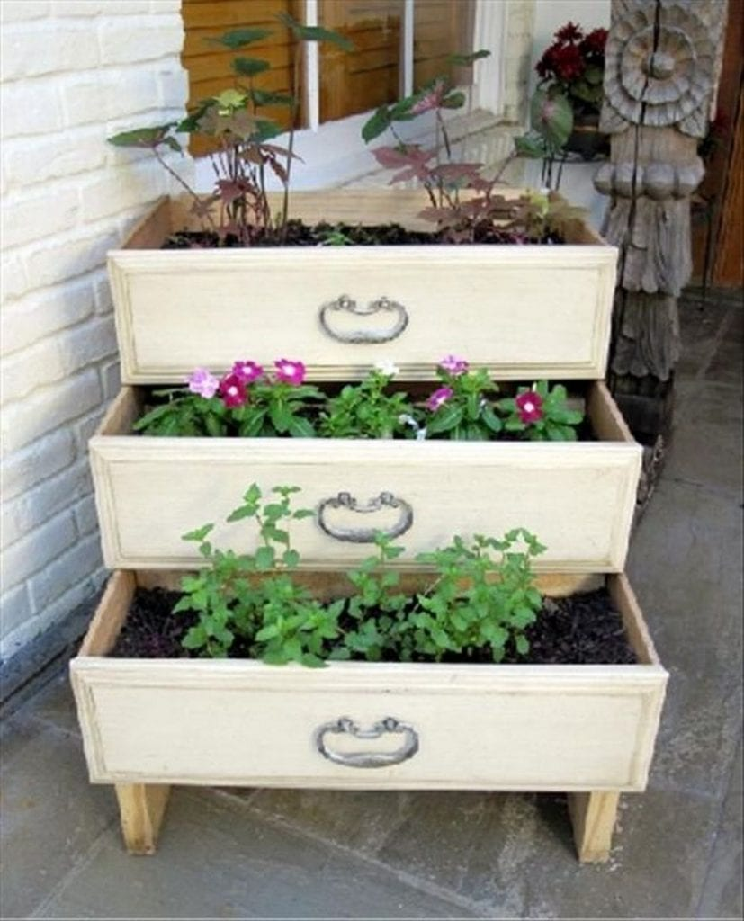 Dresser drawer planters - a simple project with big benefits.