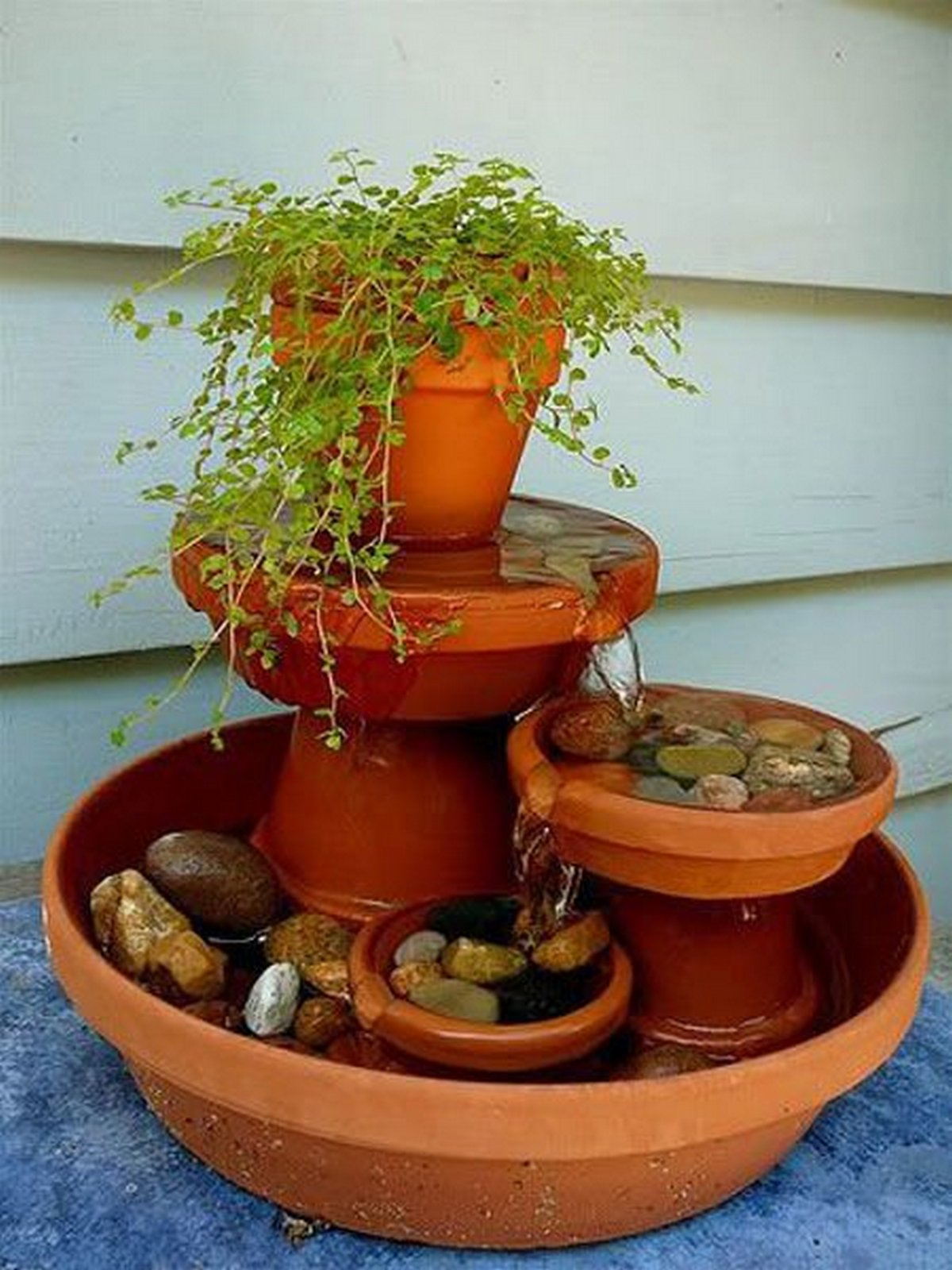 DIY Terra Cotta Fountain