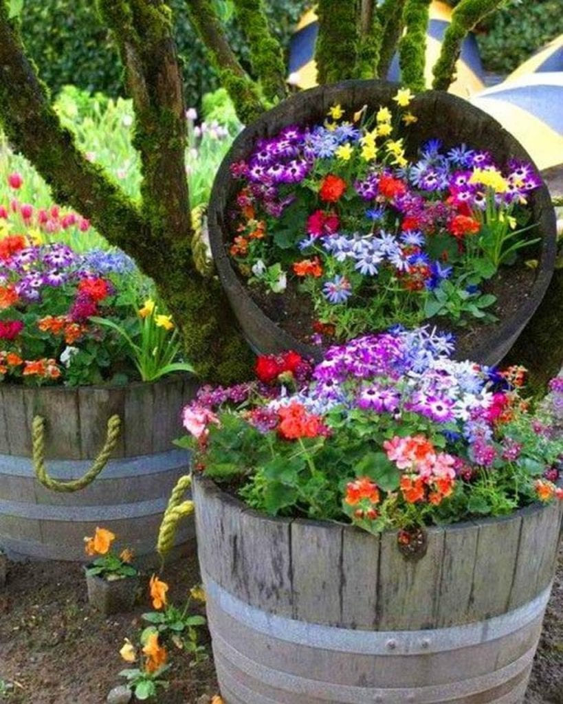 How to Make Planters Out of Wine Barrels