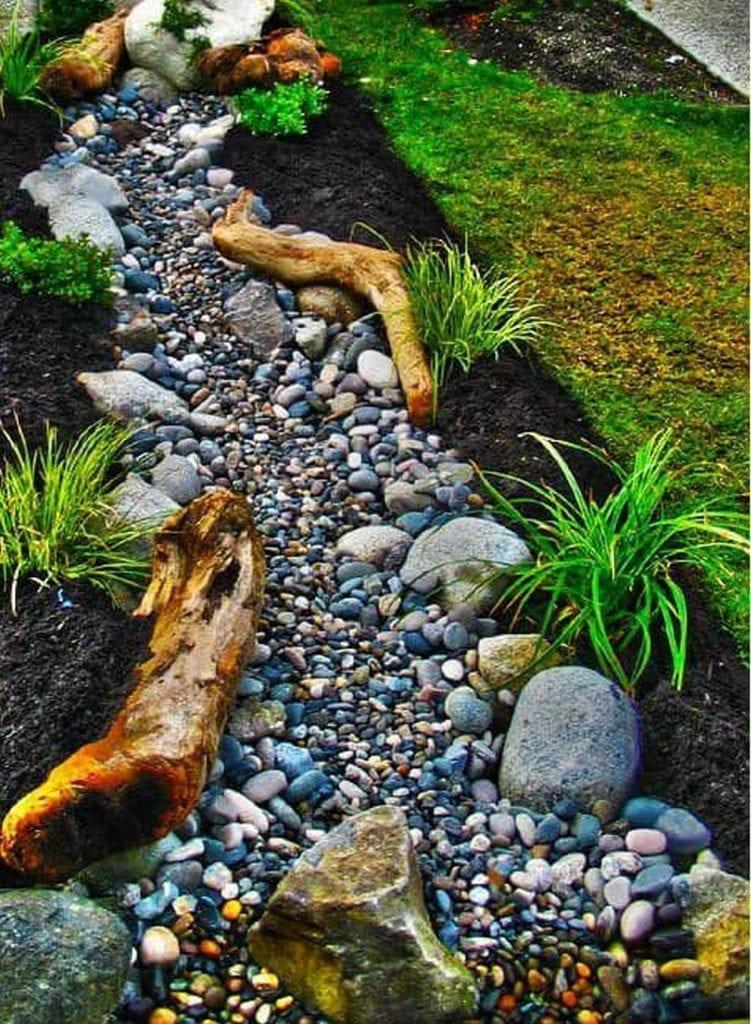 Inspiring Dry Creek Bed Garden Ideas - The garden! on Landscaping Ideas For Wet Backyard id=58643