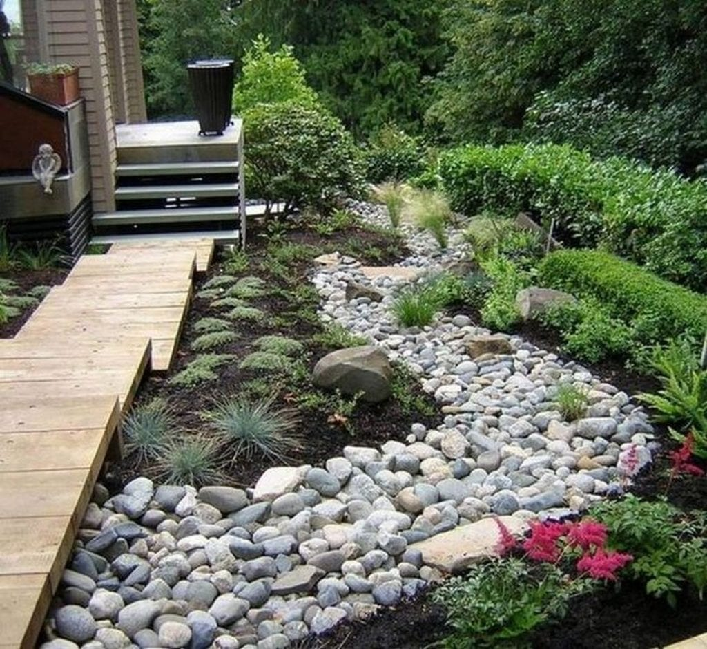 Dry creek beds aren't only beautiful to look at, they're functional, too!