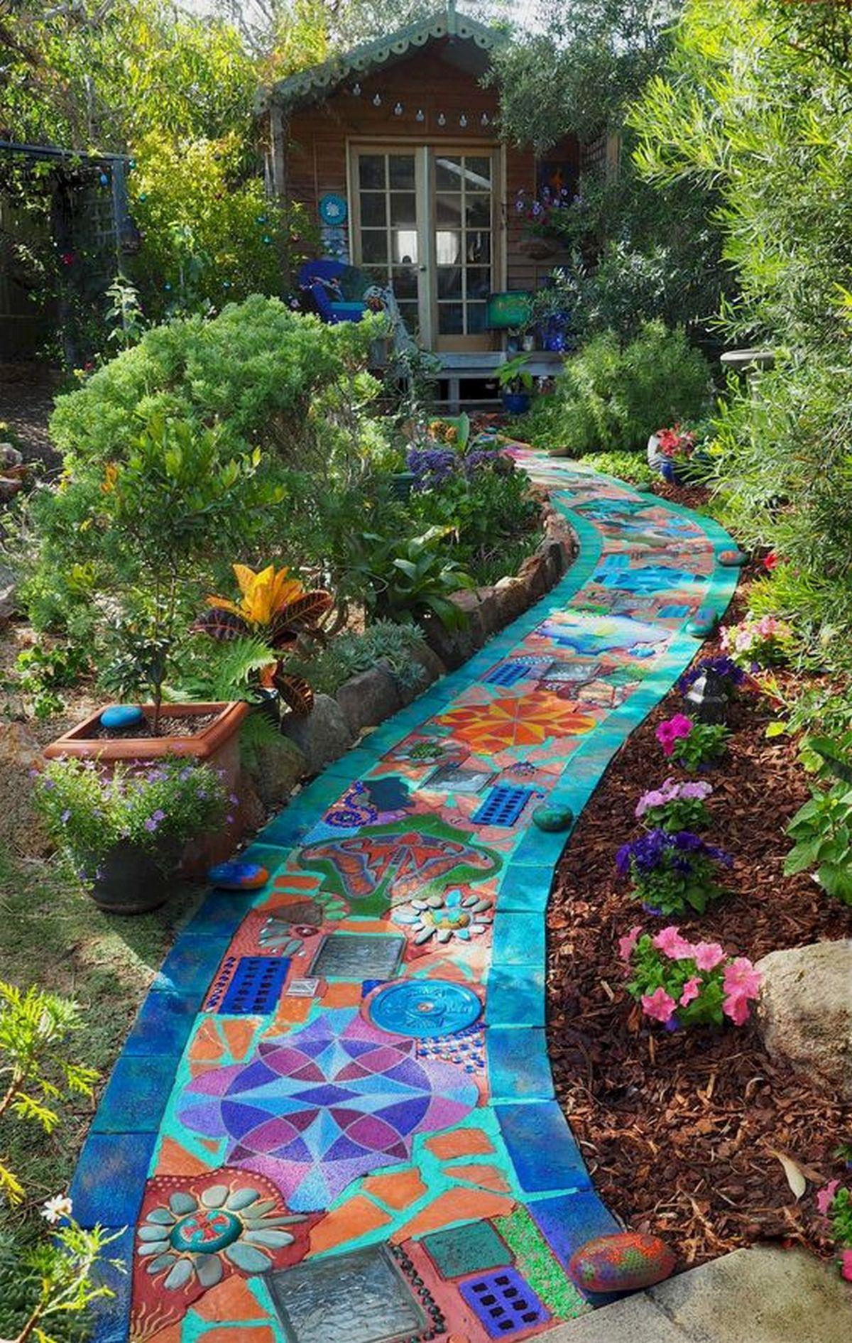 Mosaic Garden Path Ideas - The garden! on Backyard Pathway Ideas id=12374