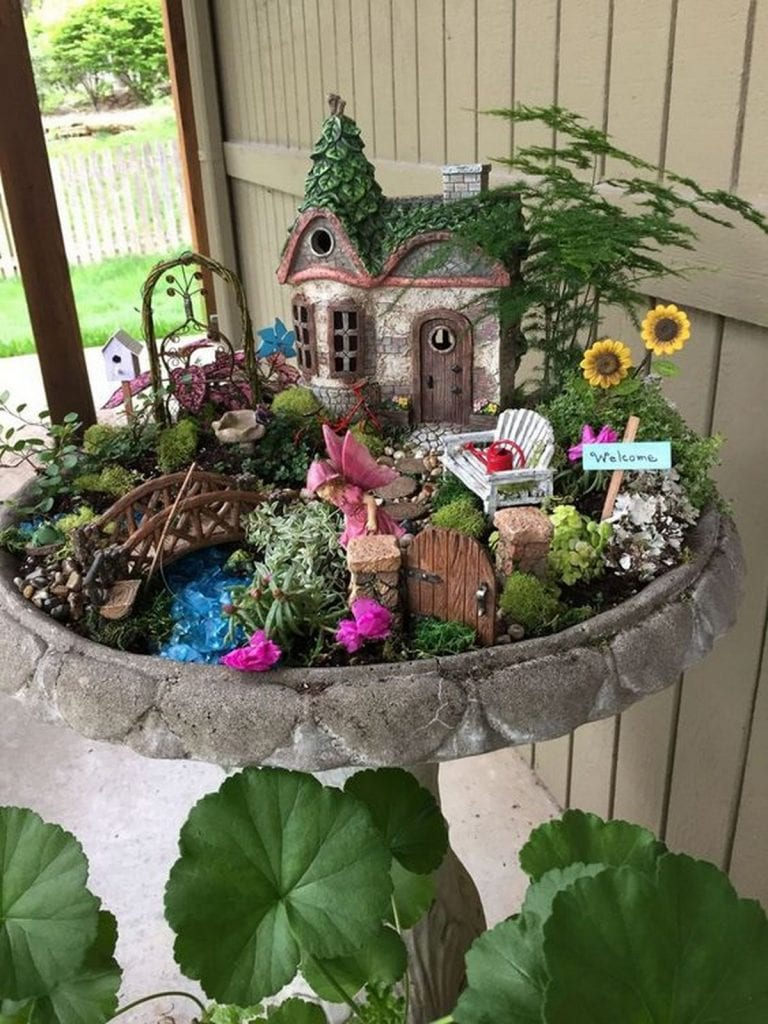 Having a fairy garden makes an area look magical and enchanting.