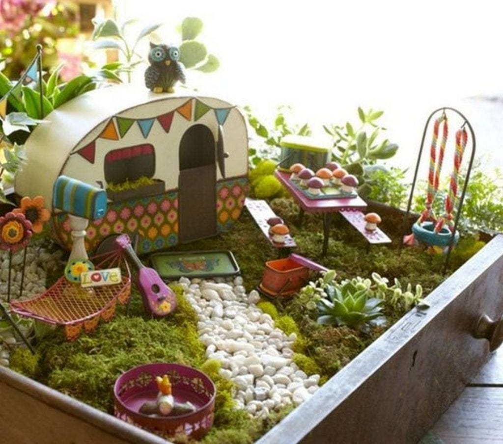 These whimsical fairy gardens easily transport us back to childhood...