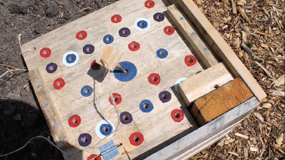 Organize your garden beds with this seed spacer template.