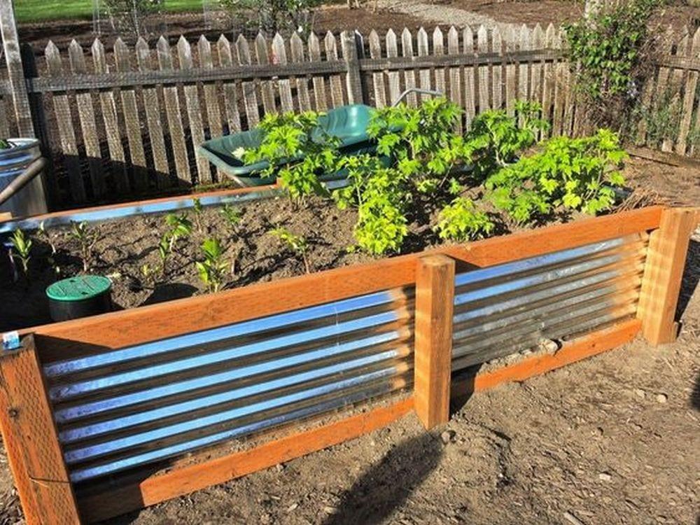 Diy Roofing Sheet Metal Raised Garden Bed The Garden