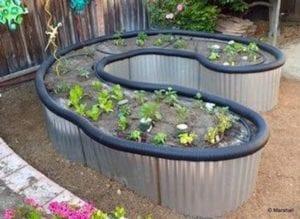 DIY Roofing Sheet Metal Raised Garden Bed