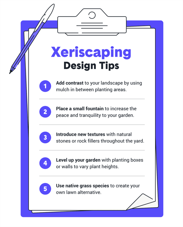 You can design a xeriscape garden that fits into any size space.