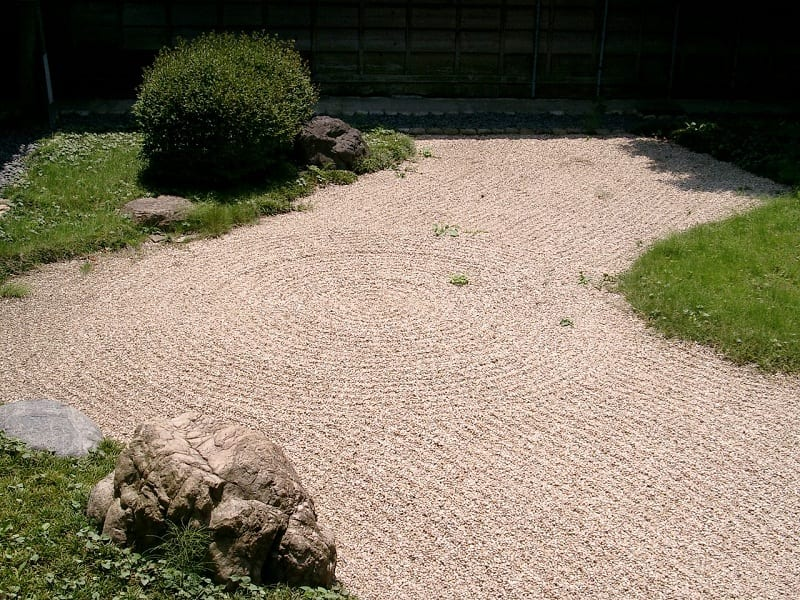 If you're using gravel to give the illusion of water, make sure you lay it in patterns that mimic the movement of water.