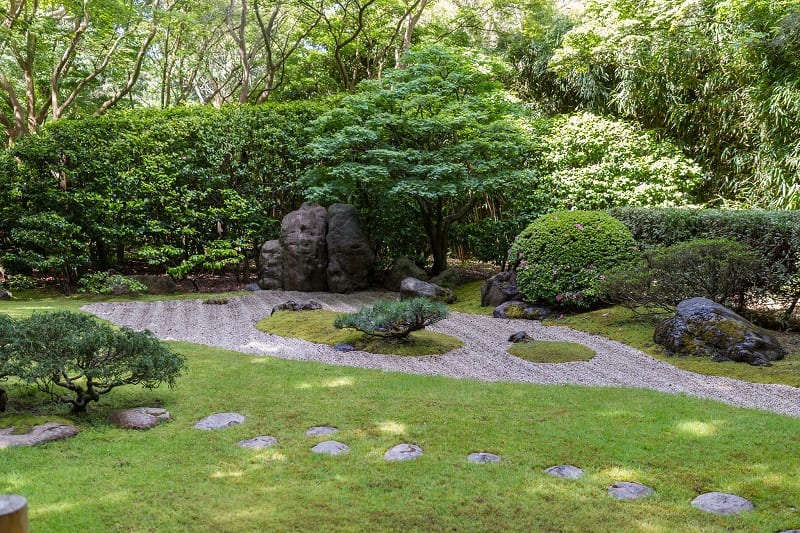 Use low, spreading plants instead of upright ones for your Zen garden.