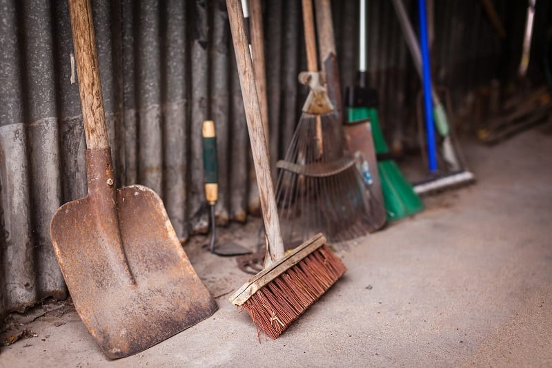 Maintaining your garden tools will help preserve them.