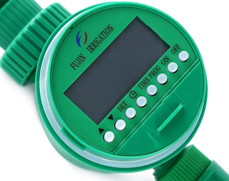 Use digital timers or controllers on your irrigation system to regulate your garden's water consumption.