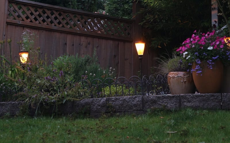 Use outdoor lighting to enhance the nocturnal ambiance.