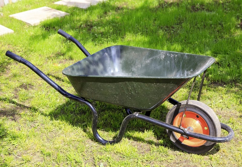 Wheelbarrows are excellent for hauling piles of leaves, bulk mulch orders, or landscaping stones.