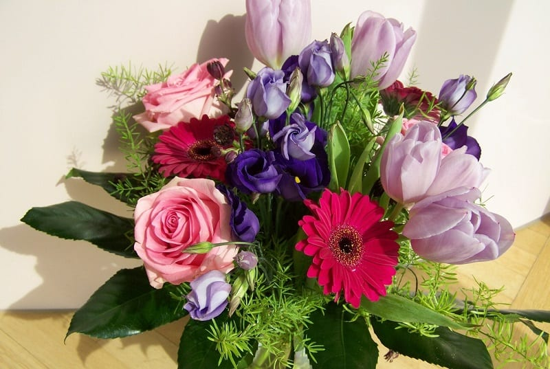 Try to focus on flowers that have longer stems.