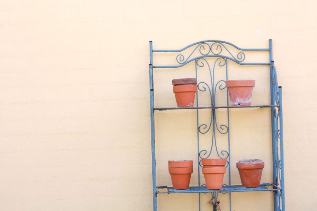 Put your containers out where you plan to locate them.