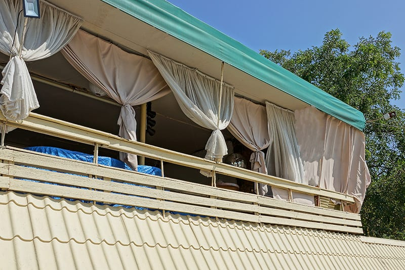 Drapery is an elegant and cost effective privacy solution