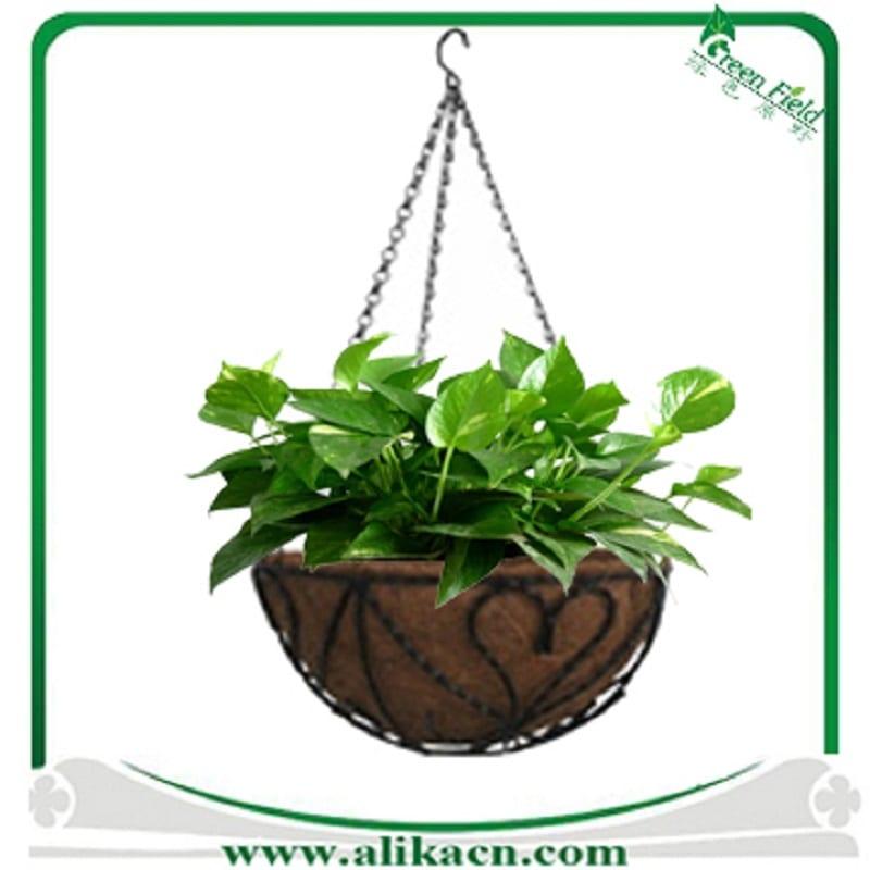 Coco coir planter liners have a fibrous, woven texture.