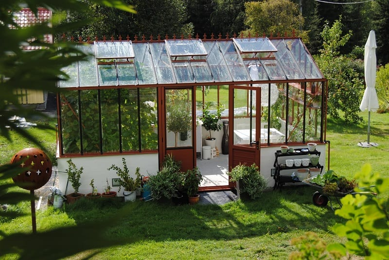 The traditional greenhouse also offers excellent lighting and is a durable, long term option.