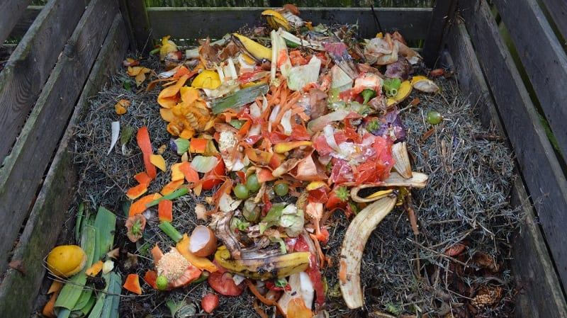Green materials include kitchen scraps, lawn clippings, weeds, kelp, manure and such.
