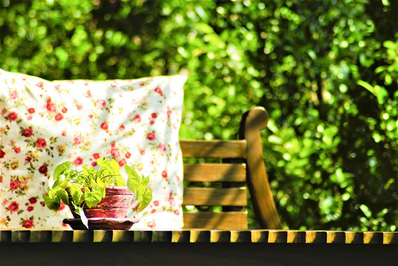 Outdoor cushions should have filling that resists mildew.