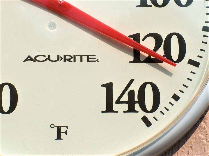 Check the weather report for your area at least once a week.
