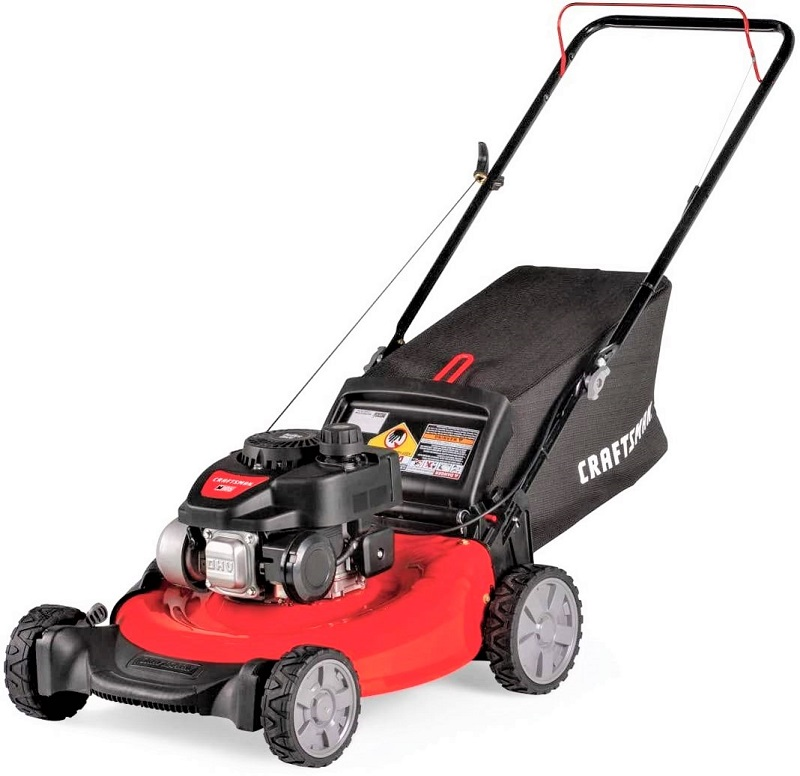 The Craftsman M105 is a mid-range gas-powered mower with several good features for the price it commands.
