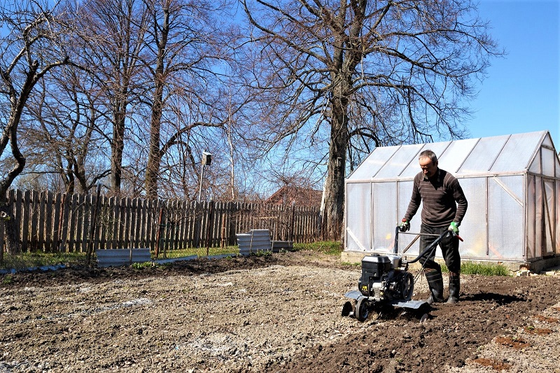 In all but the smallest garden beds, you need a machine for creating new beds, weeding, and aerating soil.