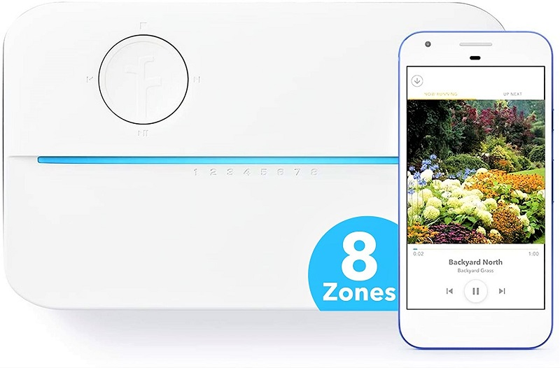 The Rachio 3 provides simple plug-and-play functionality for a beginner.