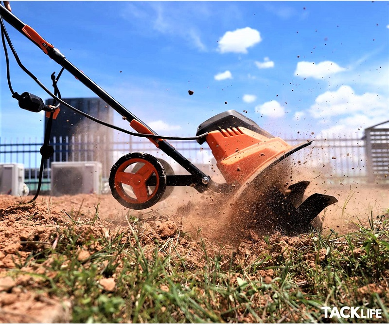 The Tacklife Advanced Electric Tiller is all about versatility and power.