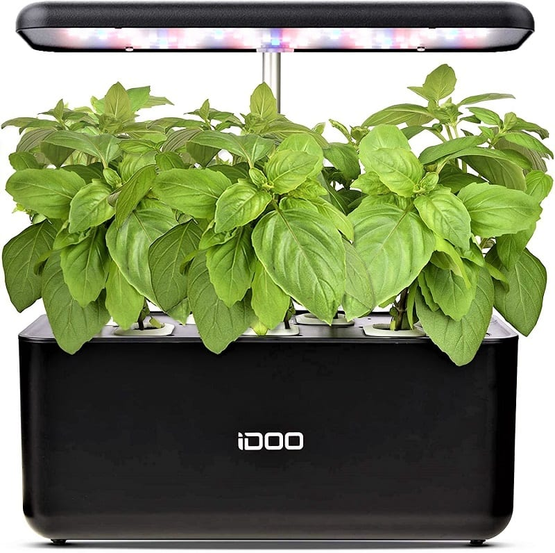 Unlike the AeroGarden Elite and the AeroGarden Bounty, the iDOO Indoor Garden Kit does not come with seed pods. We liked this as it allows you to choose the plants you'll grow.
