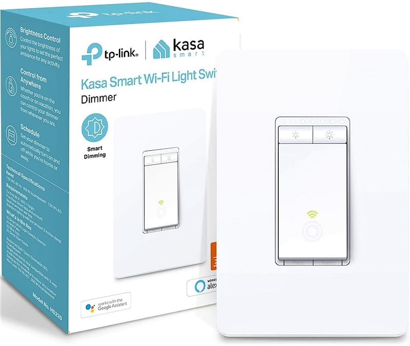 TP-Link's Kasa HS220 smart dimmer is a top pick for many reviewers and consumers. That's mainly due to its combination of simplicity and affordability.