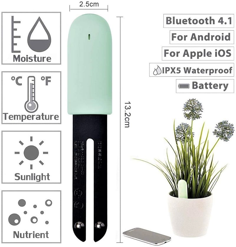 There's a smart way to keep an eye on the moisture and nutrient levels in your lawn's soil now, too.