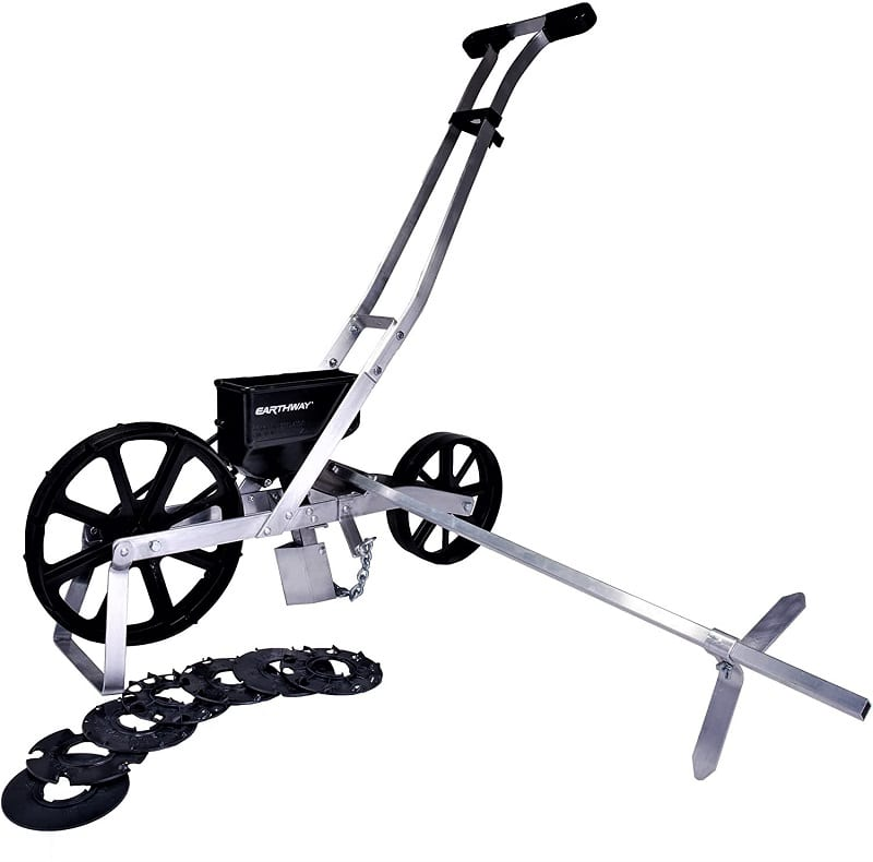 Earthway's Precision Garden Seeder allows you to make a much quicker job of sowing seeds in beds. The simple device uses a cog system to automatically distribute seeds at various distances and depths.