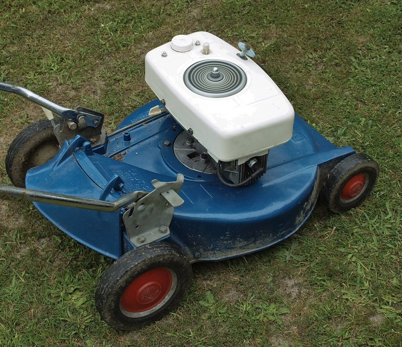 If your mower is clean, then it's a good time to lubricate any important moving parts. These include the wheels, the height adjuster for the mowing deck, and the throttle cable assembly.