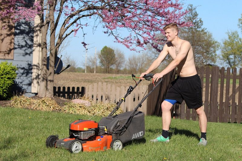 You need to change your mower's air filter every once in a while. Without regular maintenance checks, the filter can get grimy with dirt and debris. A dirty filter will cause your lawn mower to run – and cut grass -- inconsistently.