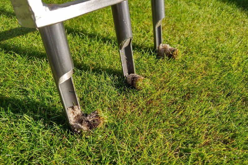 Core aeration is labour intensive but very beneficial.